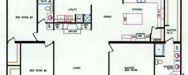 3 Bedroom Floor Plan: K-26