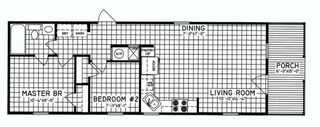 2 Bedroom Floor Plan: C-7101