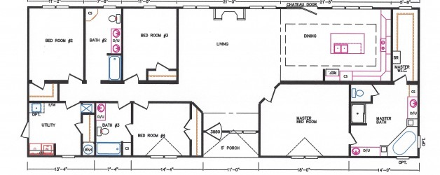 4 Bedroom Floor Plan: K-3239