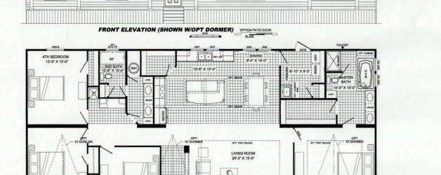 4 Bedroom Floor Plan: B-6030
