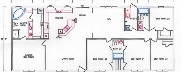 5 Bedroom Floor Plan: K-32