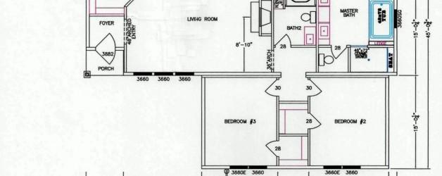 3 Bedroom Floor Plan: F-5072