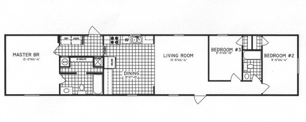 3 Bedroom Floor Plan: C-8010