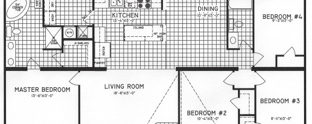 4 Bedroom Floor Plan: C-8110