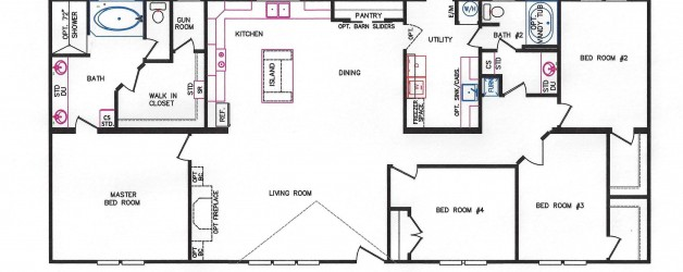4 Bedroom Floor Plan: K-3240