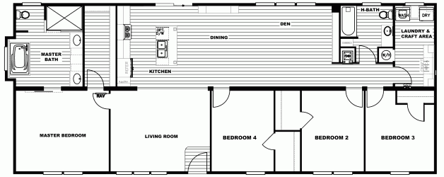 4 Bedroom Floor Plan: P-The Revere