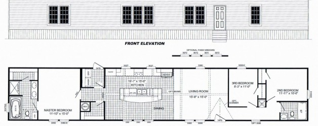 3 Bedroom Floor Plan: B-2027
