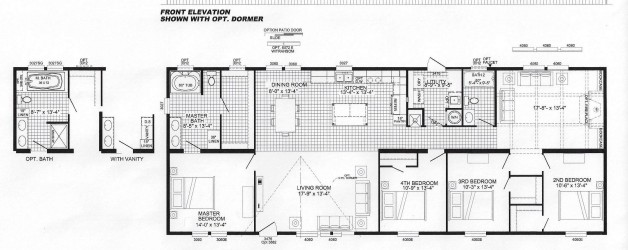 4 Bedroom Floor Plan: B-5034