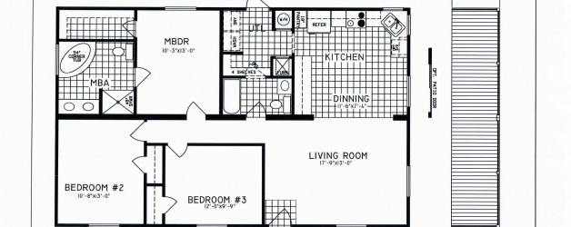 3 Bedroom Floor Plan: C-8109