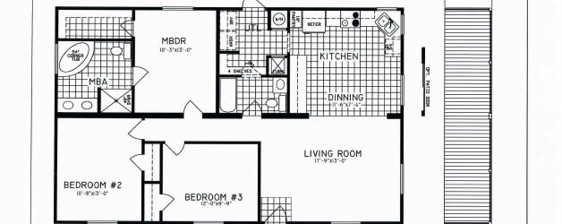 3 Bedroom Floor Plan: C-8109