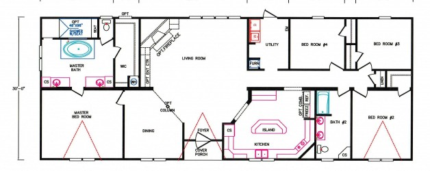 4 Bedroom Floor Plan: K-3237