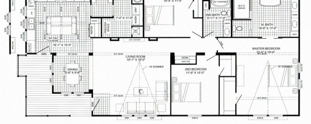 "3 Bedroom Floor Plan: B-6041 ""LulaMae"""