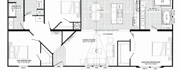 "3 Bedroom Floor Plan: B-5039 ""Avalyn"""