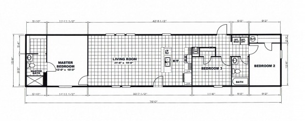 "3 Bedroom Floor Plan: ""The Houston"""