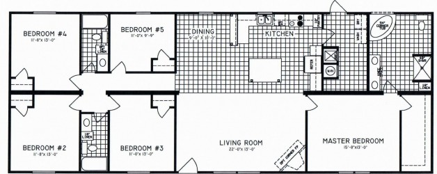 5 Bedroom Floor Plan: C-8108