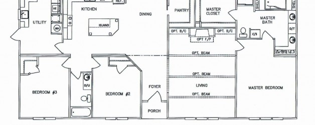 3 Bedroom Floor Plan: K-MD-33-32