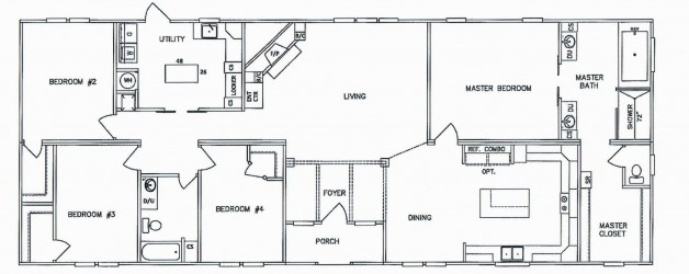 4 Bedroom Floor Plan: K-KB-3243