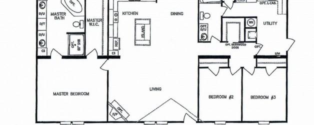 3 Bedroom Floor Plan: K-MD-3232