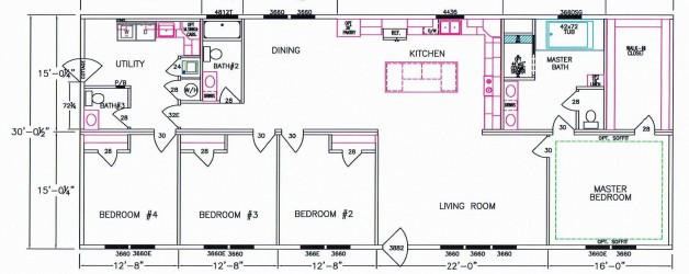4 Bedroom Floor Plan: F-5080