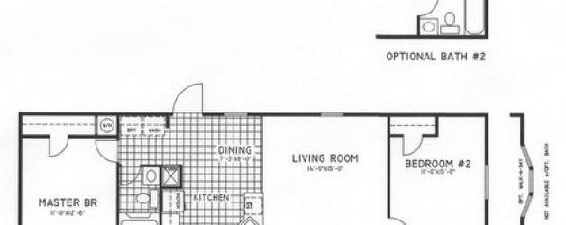 2 Bedroom Floor Plan: C-1006