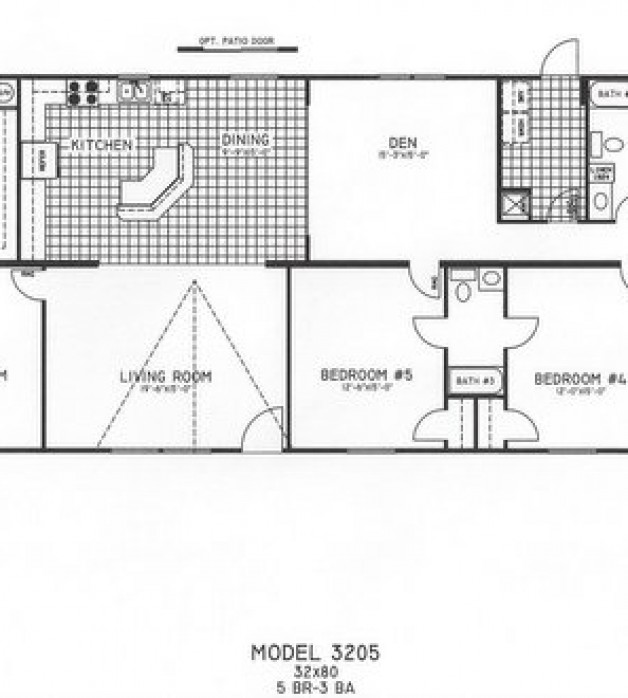 5 Bedroom Floor Plan  C 3205. 5 Bedroom Floorplans Modular and Manufactured Homes in AR