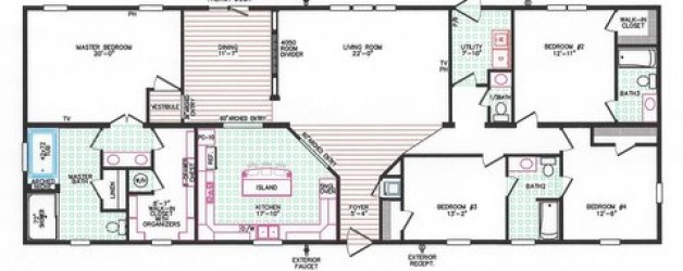 4 Bedroom Floor Plan: F-4028