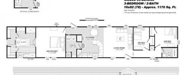 3 Bedroom Floor Plan: 2404