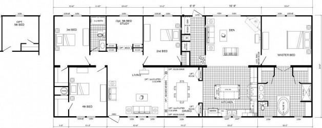 4 Bedroom Floor Plan: B-6594