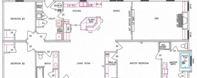 3 Bedroom Floor Plan: F-3019