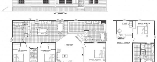 3 Bedroom Floor Plan: The Graff (B-6698)