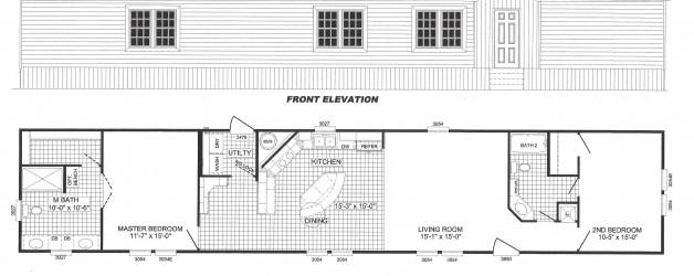 2 Bedroom Floor Plan  B-2002
