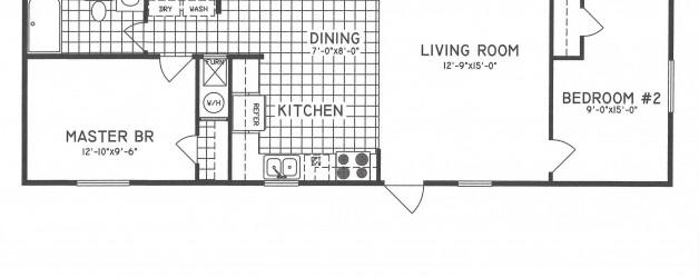 2 Bedroom Floor Plan C-9001